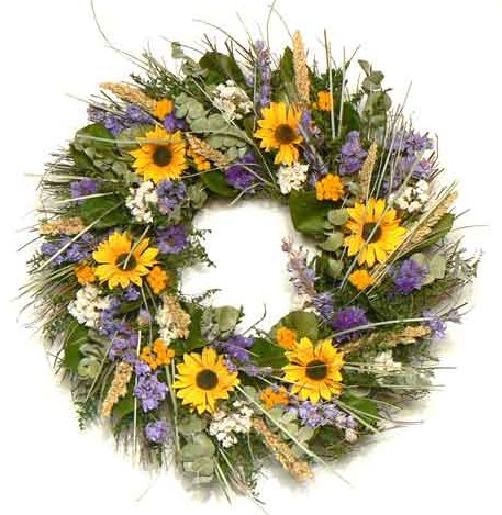 "20"" Spring Sunflower Wreath"