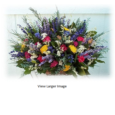 Summer Garden Dried Floral Centerpiece