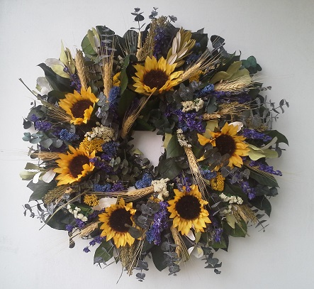 Asheville Sunflower Wreath