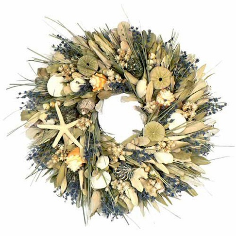 "18"" Lavender Bay Shell Wreath"