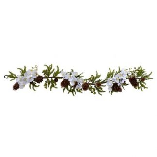 "60"" Phalaenopsis Orchid & Pine Garland"