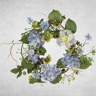 Blue Mist Hydrangea Wreath