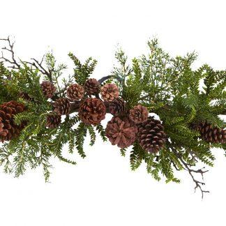 "30"" Ponderosa Pine Cone Swag"